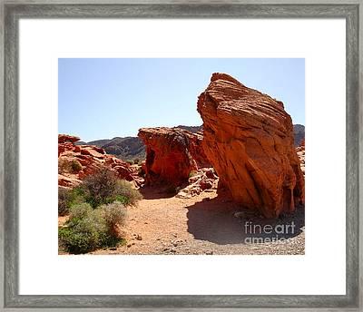 Martian Landscape Framed Print by Silvie Kendall