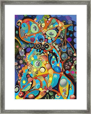 Framed Print featuring the painting Martian Venusian by Douglas Fromm
