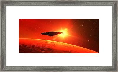 Martian Voyage By Raphael Terra Framed Print by Raphael Terra