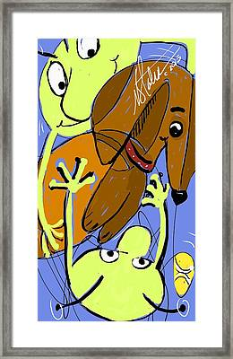 Martians Best Friend Framed Print by Nicole Slater