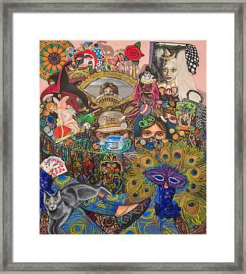 Martigras Masquerade Framed Print