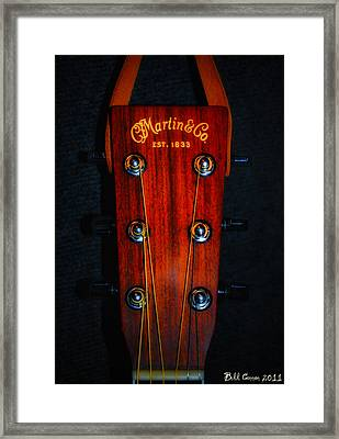 Martin And Co. Headstock Framed Print