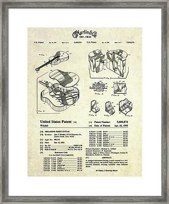 Martin Guitar Patent Art Framed Print