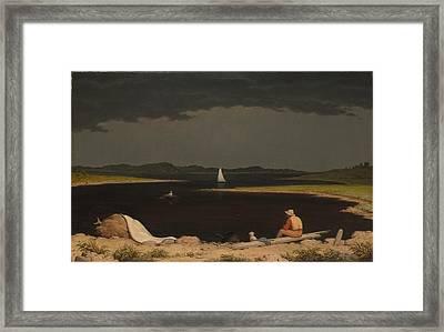 Martin Johnson Heade    Approaching Thunder Storm Framed Print