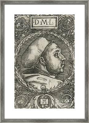 Martin Luther, 1521 Framed Print