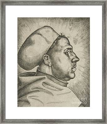Martin Luther, 1523  Framed Print
