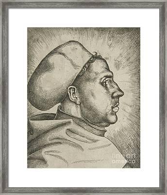 Martin Luther, 1523  Framed Print