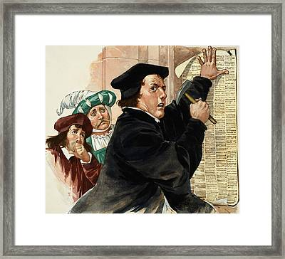 Martin Luther Framed Print by Angus McBride