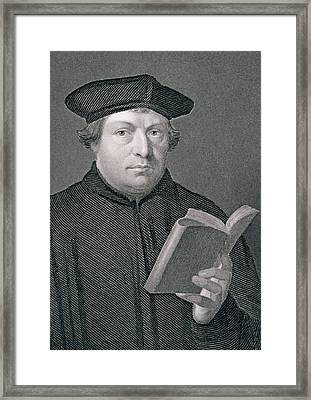 Martin Luther Framed Print by Hans Holbein