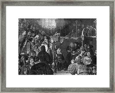 Martin Luther, Imperial Diet Of Worms Framed Print by Photo Researchers, Inc.