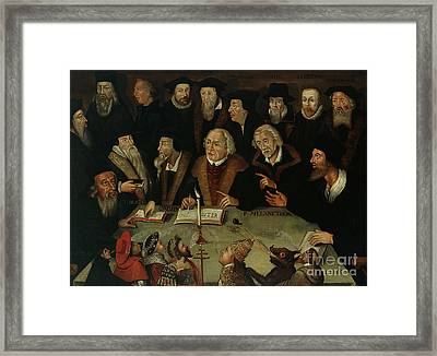 Martin Luther In The Circle Of Reformers Framed Print