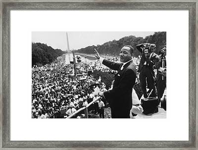 Martin Luther King Framed Print by American School