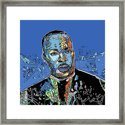 Martin Luther King Color Framed Print