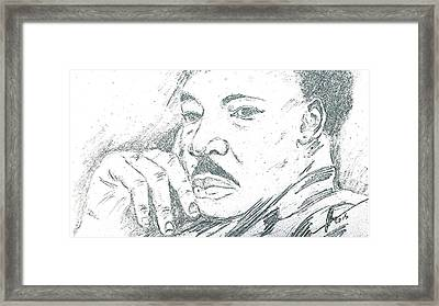 Martin Luther King Jr  Framed Print by Collin A Clarke