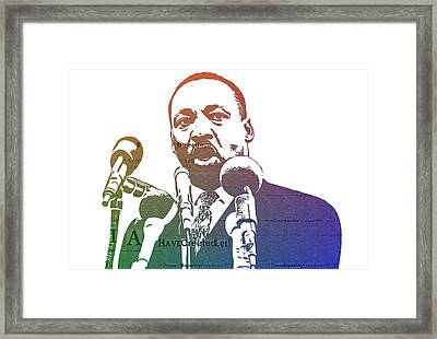 Martin Luther King Jr Framed Print by Dan Sproul