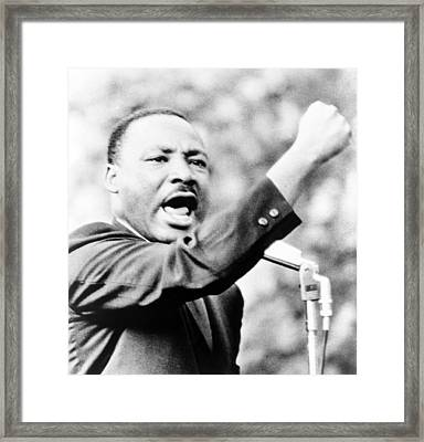 Martin Luther King, Jr., Gesturing Framed Print
