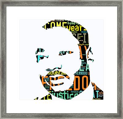 Martin Luther King Jr I Have A Dream Framed Print by Marvin Blaine