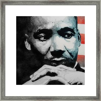 Martin Luther King Jr- I Have A Dream  Framed Print