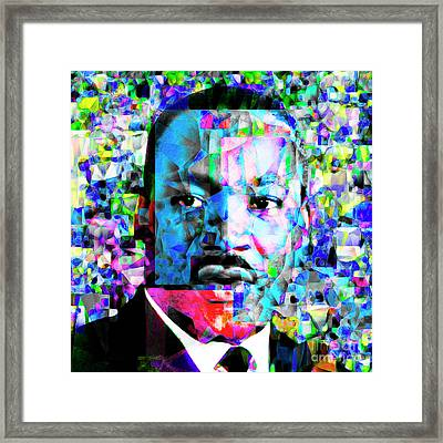 Martin Luther King Jr In Abstract Cubism 20170401 Framed Print