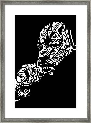Martin Luther King Jr. Framed Print by Kamoni Khem