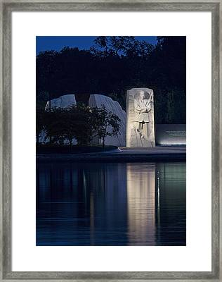 Martin Luther King Jr Memorial Overlooking The Tidal Basin - Washington Dc Framed Print by Brendan Reals
