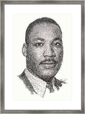 Martin Luther King Jr Framed Print by Michael Volpicelli