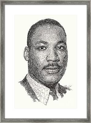 Martin Luther King Jr Framed Print