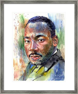 Martin Luther King Jr. Painting Framed Print