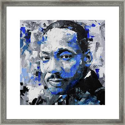 Martin Luther King Jr Framed Print by Richard Day
