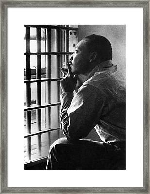 Martin Luther King, Jr, Sitting Framed Print