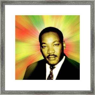 Martin Luther King Jr Framed Print by Stephanie Brock