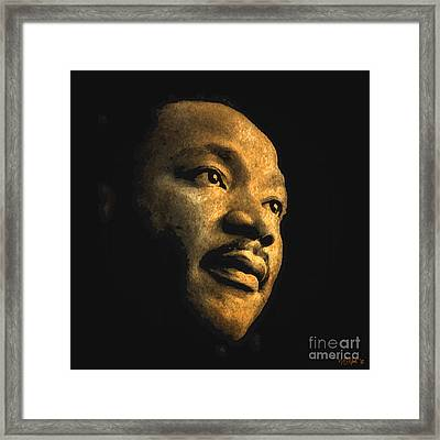 Martin Luther King, Jr. Framed Print by Walter Oliver Neal