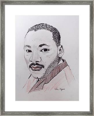 Martin Luther King Framed Print by Lois Viguier
