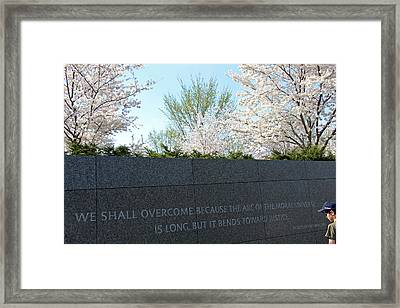 Martin Luther King -- The Arc Of The Moral Universe Bends Toward Justice Framed Print