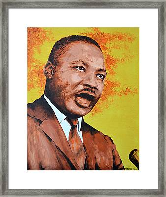 Martin Luther King Framed Print by Victor Minca