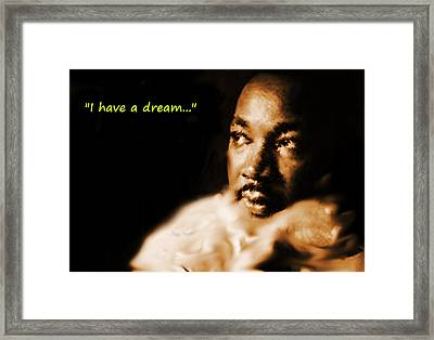Martin Luther King Watercolor Framed Print by Enki Art