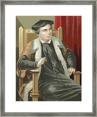 Martin Luther Framed Print by Spanish School