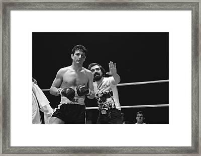 Martin Scorsese And Robert Deniro Publicity Photo Raging Bull 2 1980 Framed Print by David Lee Guss