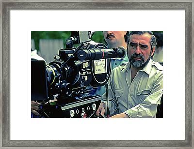 Martin Scorsese Art Framed Print by Iguanna Espinosa