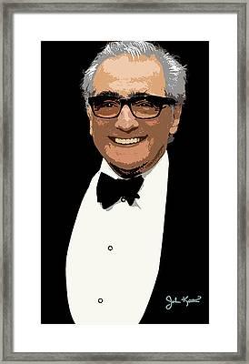Martin Scorsese Framed Print by John Keaton