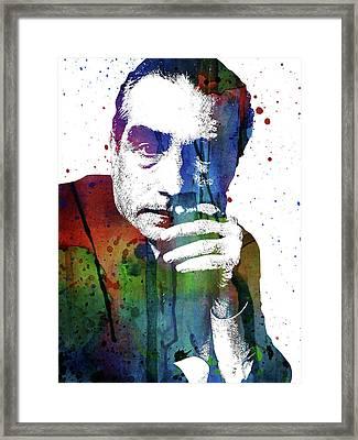 Martin Scorsese Framed Print by Mihaela Pater
