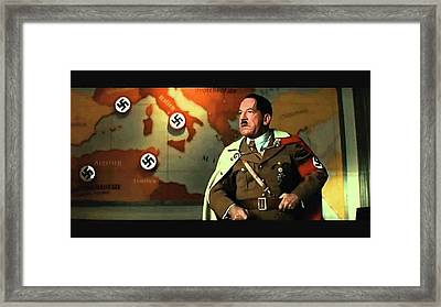 Martin Wuttke As Adolf Hitler Number One Inglourious Basterds 2009 Color Added 2016 Framed Print by David Lee Guss