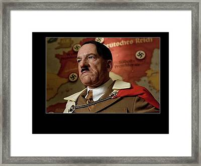 Martin Wuttke As Adolf Hitler Number Two Inglourious Basterds 2009 Frame Added 2016 Framed Print by David Lee Guss