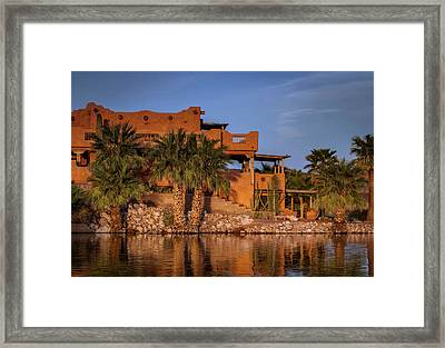 Martinez Lake Framed Print