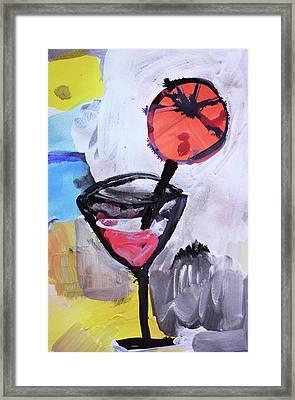 Martini And Orange Framed Print