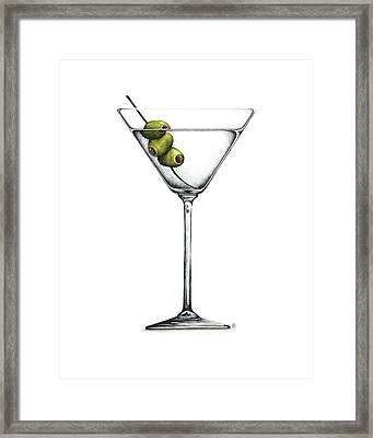 Martini Framed Print by Christina Meeusen