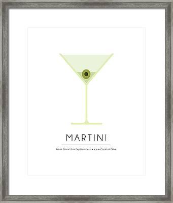 Martini Classic Cocktail - Minimalist Print Framed Print