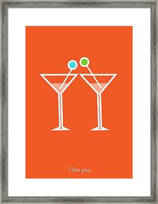 I Like You. Let's Get Together. Framed Print by Lina Tumarkina