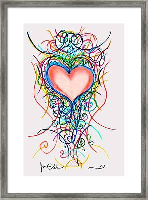 Martini Heart Framed Print by Jon Veitch