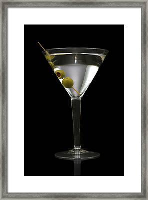 Martini In Formal Dress Framed Print